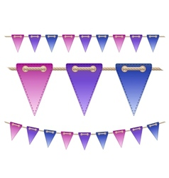 Festive flags on white background vector image vector image