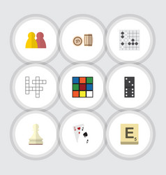 flat icon games set of guess mahjong pawn and vector image vector image