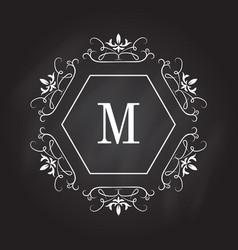monogram logo template identity design for shop vector image vector image