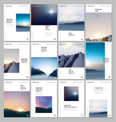 a4 brochure layout covers templates for flyer vector image