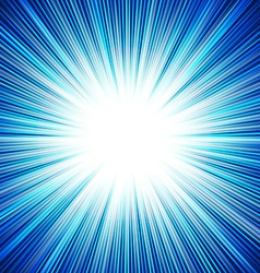 Abstract background of blue star burst vector