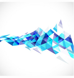 abstract transparent triangle on perspective vector image