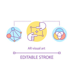 Ar visual art concept icon vector
