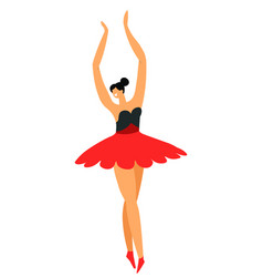 Ballet dancer or ballerina in tutu isolated vector