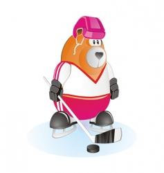 Bear hockey vector