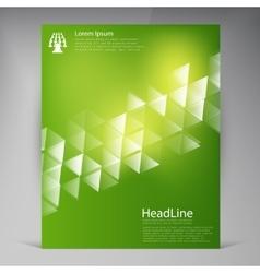 Beautiful Green Flyer vector image