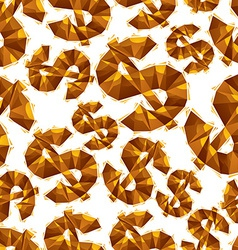 Black dollar signs seamless pattern geometric vector image