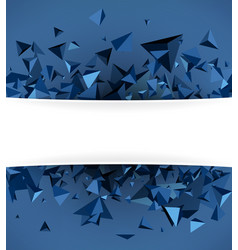 Blue background with 3d trigons vector