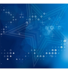 Blue blurry abstract Christmas background vector image