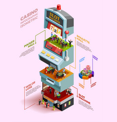 Casino isometric infographics layout vector