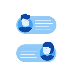 Chat messages bubble vector