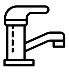 Closed water tap icon outline style vector