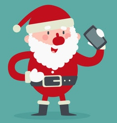 Cute Santa Talking on the Phone vector image