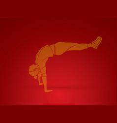 dancing action dancer training vector image