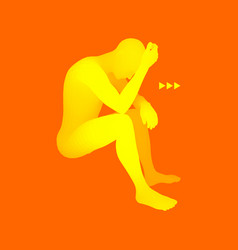 Despair depression hopelessness addiction concept vector