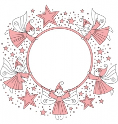 elves frame vector image