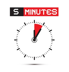 Five Minutes Stop Watch - Clock vector