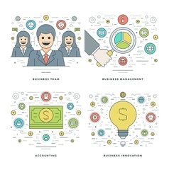Flat line Management Finance Accounting vector