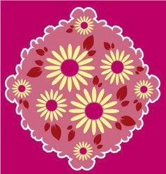 Flowers in frame vector