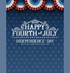 Fourth july invitation vector