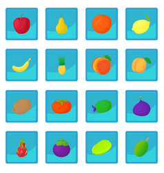 Fruit icon blue app vector