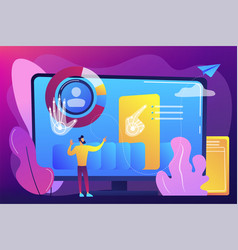 Gesture recognition concept vector
