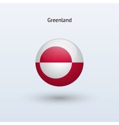 Greenland round flag vector image