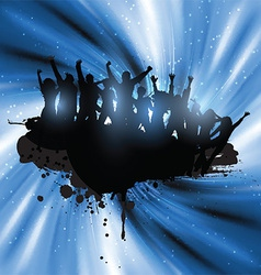 grunge party people 3001 vector image vector image