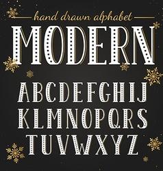 Hand drawn modern font vector