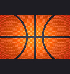Horizontal ball texture for basketball sport vector