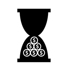 Hourglass time is money isolated icon vector