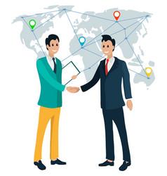 International business partners collaboration vector