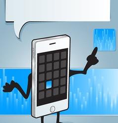 iphone app vector image