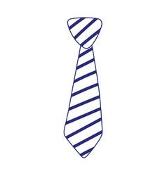 Isolated striped necktie design vector