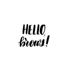 Lettering hello brows vector