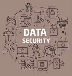 Linear data security vector