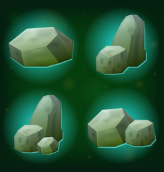 magic stone game icon set vector image