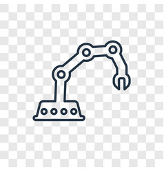 Mechanical arm concept linear icon isolated on vector