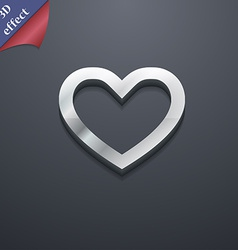Medical heart Love icon symbol 3D style Trendy vector
