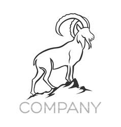 Moder goat logo vector