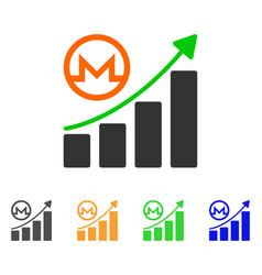 monero growing graph icon vector image