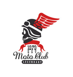 moto club logo est 1979 design element for motor vector image
