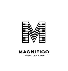 music letter m vector image