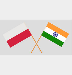 Poland and india polish and indian flags vector