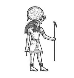 ra ancient egyptian god sun sketch vector image