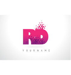 Rd r d letter logo with pink purple color and vector