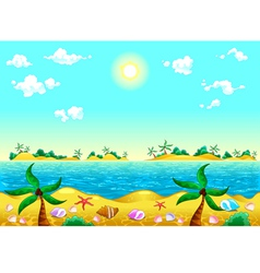 Seashore and ocean vector image