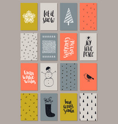 set of artistic hand drawn vector image