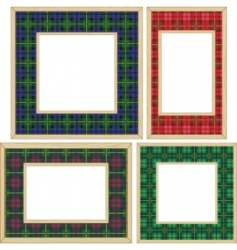 set of the wooden frames vector image