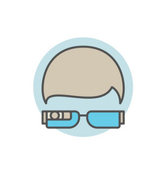 Smart glasses concept icon vector